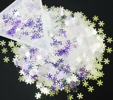 Mirror Silver Blue Color-Shift Snowflakes Nail Art Glitter Acrylic Gel Crafts