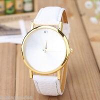 LP:Damen Lederarmbanduhr Armbanduhr Quarzuhr Watch Geschenk Modeschmuck Weiß #1