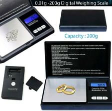 Small mini pocket digital electronic weighing weight scale 0.01g-200Gram UK SELL
