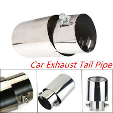 Universal Car Stainless Steel Exhaust Tail Pipe Muffler Tips 63mm Anti-corrosive