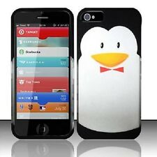 For iPhone 5 5S SE Rubberized HARD Protector Case Snap On Phone Cover Penguin