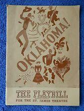 Oklahoma! - St. James Theatre Playbill - September 8th, 1947 - Wilton Clary