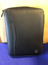Franklin Covey Full Zip Black Leather Classic 7 Ring 1 Plannerbinder