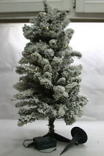 "Bethlehem Lights Prelit 34"" Flocked Tree w/ Stake & Stand CLEAR"