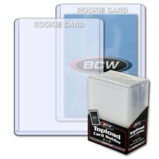 Hard Card Protectors (Toploads) stamped ROOKIE white 3x4 BCW toploaders