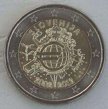 2 Euro Slowenien 2012 10 Jahre Euro unz