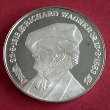 More details for richard wagner 1976 centenary 40mm silver proof medal