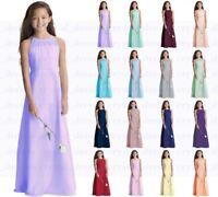 Classical Princess Junior Girl Dresses Floor length Bridesmaid Dress 2-14 years