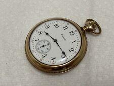 1920 17 jewels engraved case old pocket watch Elgin Usa c