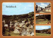 Steinbach Kr. Annaberg DDR Mehrbild-AK ua. Dorfstrasse, Freibad u. Teilansicht