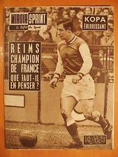 Miroir-Sprint 833 du 21/5/1962-Kopa éblouissant-Reims champion de France- Bescos