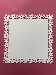 5 CHERRY BLOSSOM BORDER PUNCHED CARD SQUARES MARTHA STEWART