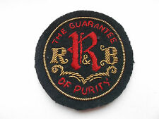early bullion and silk RR&B   milk   delivery   vintage   cloth cap  patch