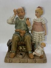 """Norman Rockwell Collector's Club Porcelain Figurine """"The Shoemaker"""" 1981, Japan"""