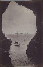 Fingalls Gave Staffa & Inverness cathedral Scotland UK 2 Photos Vintage albumen