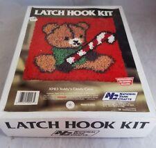 New listing National Yarn Crafts Christmas Xp83 Latch Hook Kit Teddy&#039;s Candy Cane Bear< 00004000 /a>