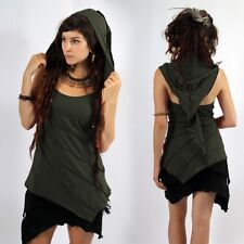 Ladies festival psy Trance Tribal Pixie hood halter top Ministry Of Style