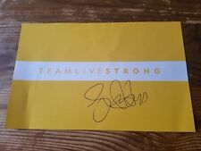 LANCE ARMSTRONG (CYCLIST) signed autographed 11X17 placard...TEAM LIVE STRONG