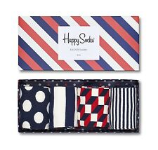 Happy Socks Men Big Dot Gift Box UK Size 7 - 11 Unisex 4 Pairs Of Pattern Socks