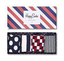 Happy Socks Men Big Dot Gift Box UK Size 7 - 11 Unisex 4 Pairs Of Pattern Socks