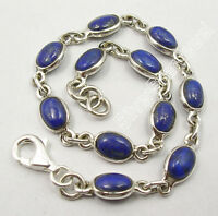 925 Pure Silver UNISEX Bracelet, Made In India Natural Gemstone Discount Jewelry