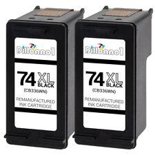 2 Black #74XL Ink for HP Photosmart C5225 C5240 C5250 C5280 C5290 C5500 C5540