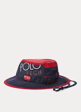 Polo Ralph Lauren Men's POLO Hi Tech Boonie Hat Newport Booney Cap Navy/Red L/XL