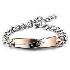 Edelstahl Damen Armband mit Gravur LOVE Armreif Armkette Roségold Silber