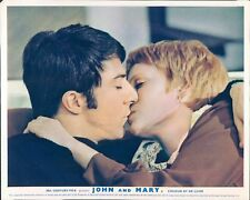 JOHN AND MARY DUSTIN HOFFMAN MIA FARROW LOBBY CARD KISS