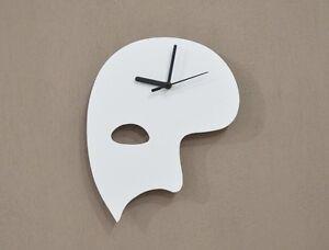 White Phantom of the Opera Mask Silhouette - Wall Clock