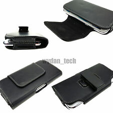 For Samsung Galaxy Note 3 2 1 Premium Leather Pouch Holster Clip Carrying Case