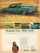 Vintage 1965 Magazine Ad Plymouth Fury Is For Getting Off The Beaten Path