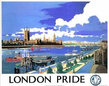 London Pride Vintage GWR Railway Poster A3 Reprint