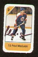 Paul MacLean signed autograph auto 1982-83 Post Cereal NHL Hockey Card