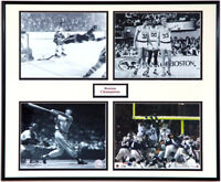 Red Sox NE Patriots Celtics Bruins Collage Memorabilia