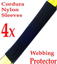 "FOUR (4x) 12"" Sliding Sleeve Webbing Web Protector for 2"" Ratchet Tie Down Strap"