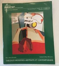 9 Briest Modern Contemporary Art Auction Catalogs lot 1992 French American