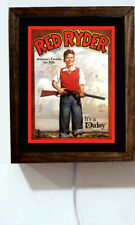 Daisy Red Ryder BB Gun Boy & Rifle Retro Vintage Advertising Light Lighted Sign