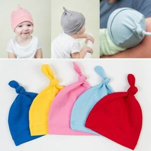 Mamy's Honey Cotton Beanie Newborn Baby Knotted Hat Boys Girls Cap Infant Toddle