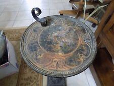 New listing Vintage Cast Iron Smoke Stand Rusty Tobacciana (10)