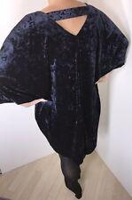 Neues AngebotMarine Kleid crushed Samt Dehnbar Weich V Ausschnitt batwinged passt 20 - 24 NEU