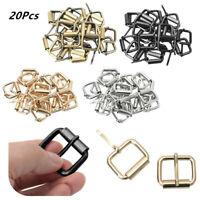 20Pcs Metal Belt Webbing Shinning Roller Pin Buckle Hardware for Belt Strap Bag