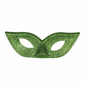 Women's Deluxe Glitter Sparkle Poison Ivy Masquerade Mask for Prom Halloween etc