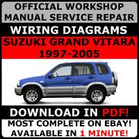 # OFFICIAL WORKSHOP Service Repair MANUAL for SUZUKI GRAND VITARA 1997-2005 #
