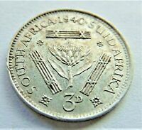 1940 SOUTH AFRICA,George VI, 3 Pence - Tickey, grading EXTRA FINE.
