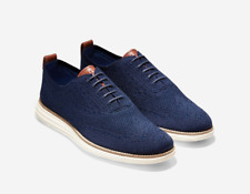 New COLE HAAN ORIGINAL GRAND Wingtip Oxford Stitchlite Men's Shoes NAVY C27960