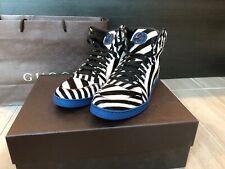 Gucci Mens Zebra-Print Calf Hair High-Top Sneaker - Size 9 - New