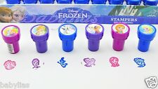 FROZEN Disney Princess Stamps Birthday Party Favors Elsa Anna Olaf (6 Pieces)