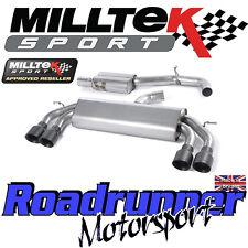 "Milltek Audi S3 8 V 3-portes Race exhaust 3"" non rhabditiforme Resonated Noir GT SSXAU527"