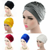 Muslim Lady Pearl Under  Scarf Hijab Tube Bonnet/Cap/Bone Neck Head Cover Wrap.